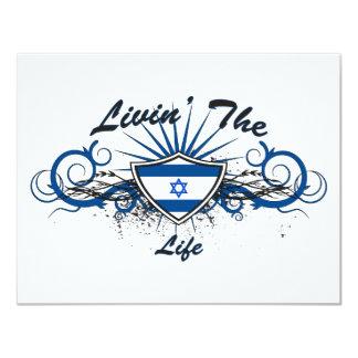 Livin The Isreal Life 11 Cm X 14 Cm Invitation Card