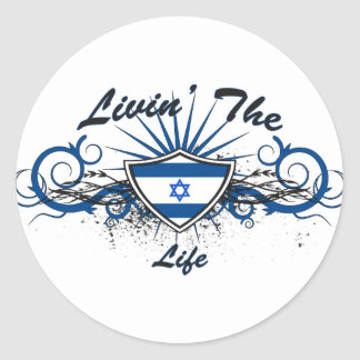 Livin The Isreal Life Classic Round Sticker