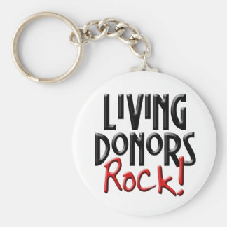 Living Donors Rock Keychain