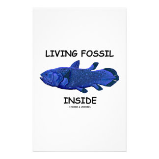 Living Fossil Inside (Coelacanth) Personalized Stationery