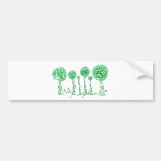 Living Green Car Bumper Sticker