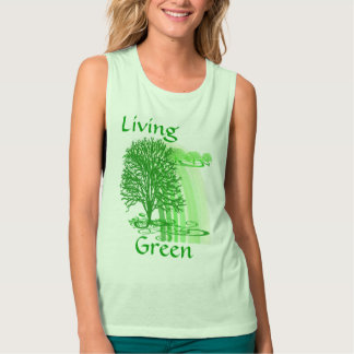 Living Green Inspirational Quotes Flowy Muscle Tank Top
