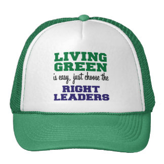 Living Green is Easy Mesh Hats