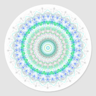 Living Green Mandala kaleidoscope stickers