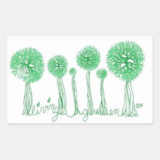 Living Green Rectangular Sticker