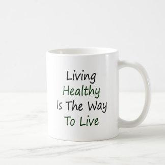 Living Healthy Is The Way To Live Coffee Mug