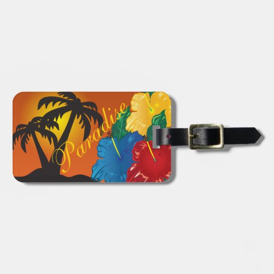 Living In a Tropical Paradise Luggage Tag