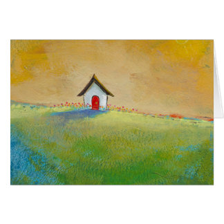 Living in Color - happy little landscape painting Greeting Card