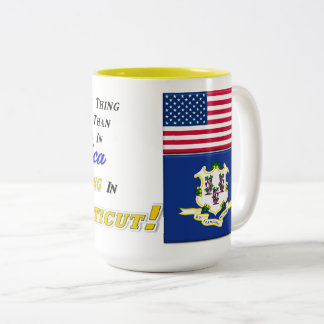 Living In Connecticut! 15 oz Two-Tone Mug