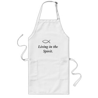 Living in the Spirit Quote/ Ichthys Apron