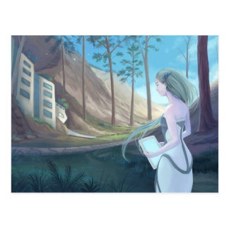Living in the Woods - digital painting Postcard