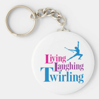 Living Laughing Twirling Key Chain