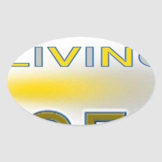 Living Legend Unique Designs Oval Sticker