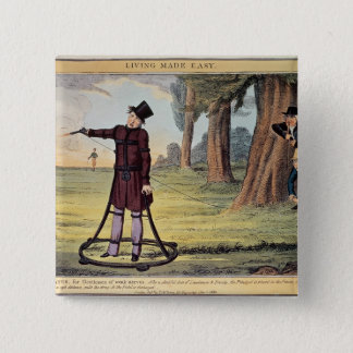 Living Made Easy; duelling apparatus 15 Cm Square Badge