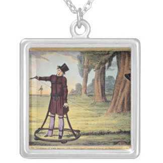 Living Made Easy; duelling apparatus Silver Plated Necklace