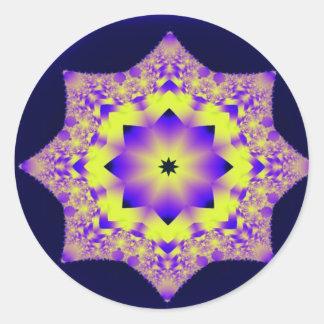 Living Mandala Classic Round Sticker