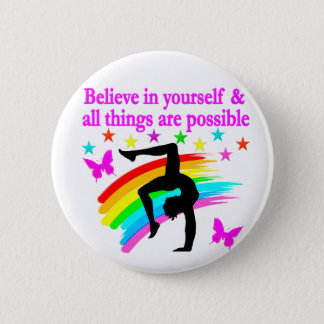 LIVING MY GYMNASTICS DREAM 6 CM ROUND BADGE