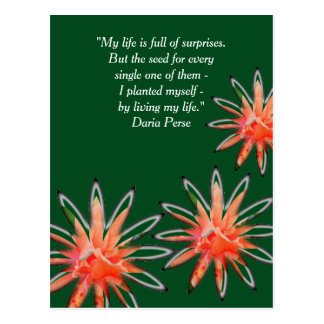 """Living My Life"" inspirational message postcard"