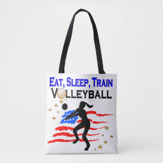 LIVING MY VOLLEYBALL DREAM DESIGN TOTE BAG