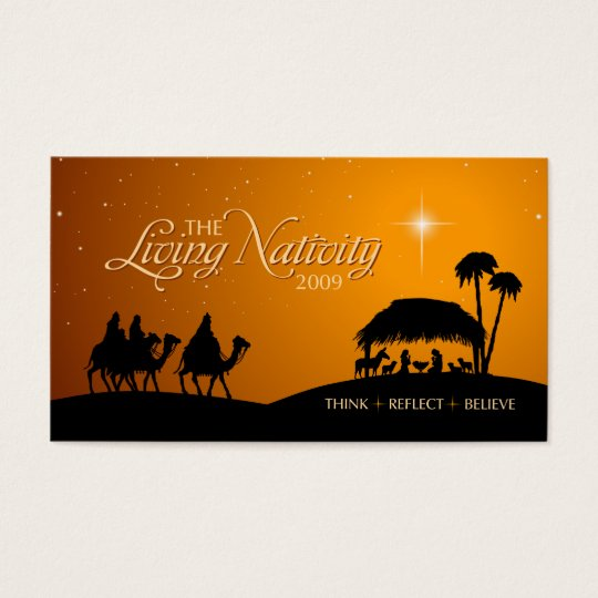 Living Nativity Christmas gift tag