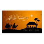 Living Nativity Christmas gift tag Business Card Templates