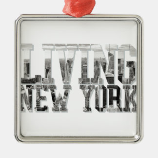 Living New York Silver-Colored Square Decoration