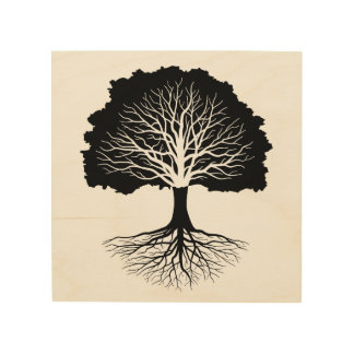 Living Oak Wood Prints
