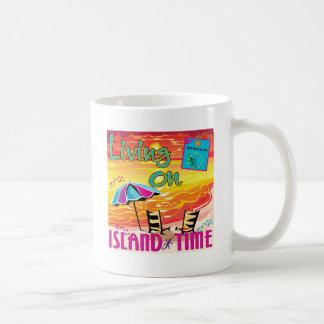Living on Island Time Coffee Mugs