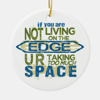 Living On The Edge double-sided ornament