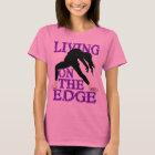 living on the edge figure skating shirt