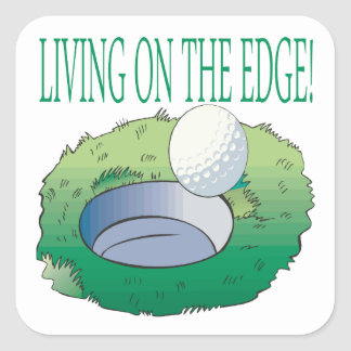 Living On The Edge Square Sticker