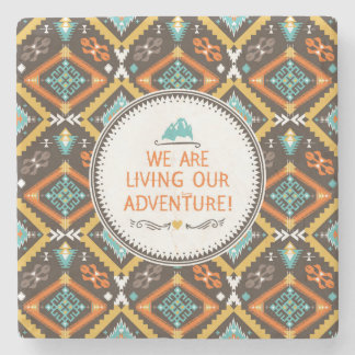Living Our Adventure Stone Beverage Coaster