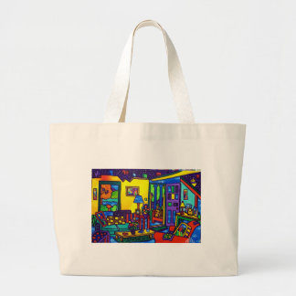 Living Room # 1 by Piliero Tote Bags