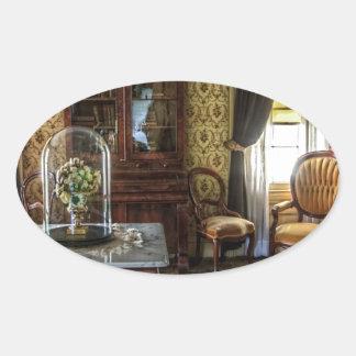 living-room-581-luxury oval sticker