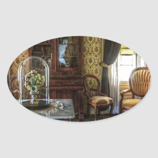 living-room-581-luxury oval sticker