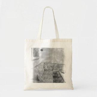 Living room budget tote bag