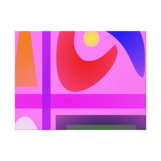 Living Room Stretched Canvas Print