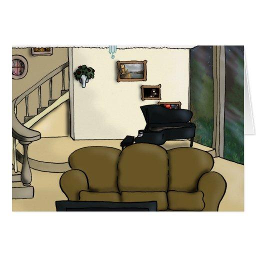 Living Room Greeting Card