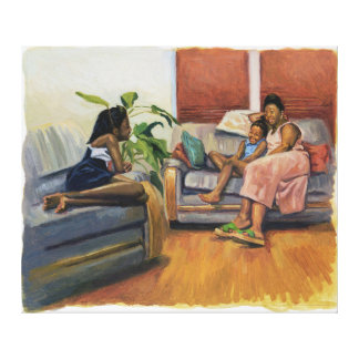 Living Room Lounge 2000 Gallery Wrapped Canvas
