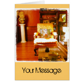 Living Room Morning Greeting Card