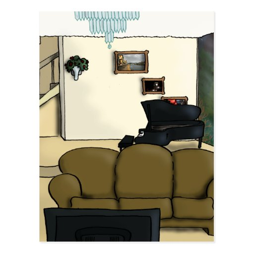 Living Room Postcard