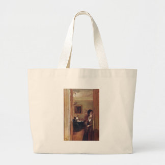 Living Room with the Artist s Sister Canvas Bags
