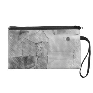 Living room wristlet clutches