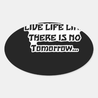 Living Oval Sticker