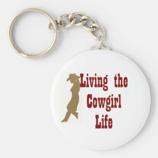 Living the Cowgirl Life Key Ring