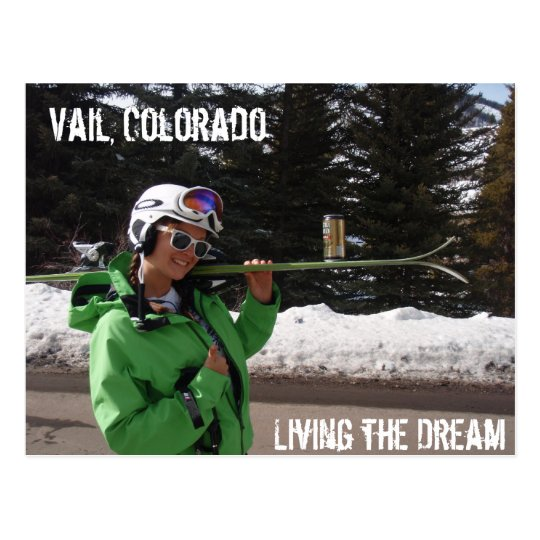 Living the Dream, Vail, Colorado Postcard