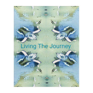 """""""Living the Journey"""" Blue Green Positive Pattern Acrylic Print"""