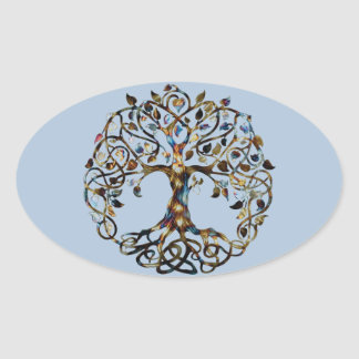 Living Tree Oval Sticker