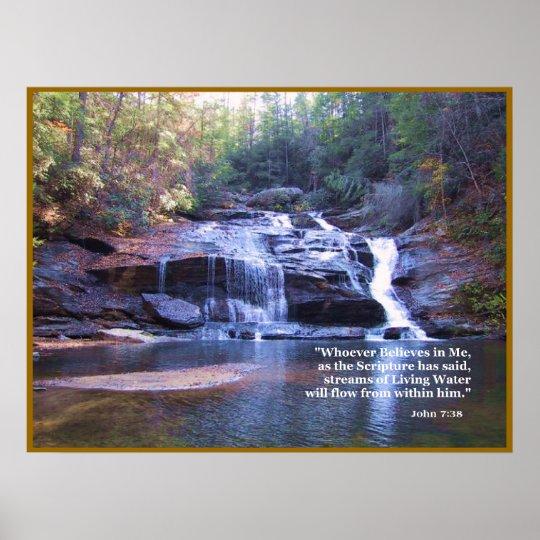 Living Water John 7:38 POSTER PRINT