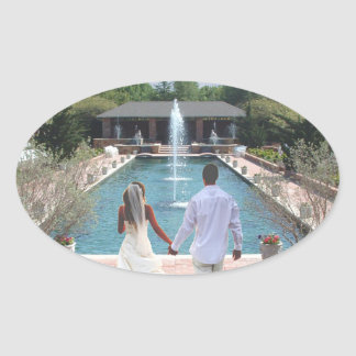 Living Water Oval Sticker